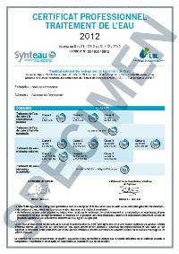 Certificat professionnel Synteau